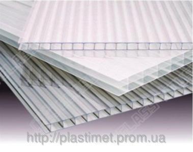 Полікарбонат сотовий (стільниковий) Carboglass прозорий  6000х2100х8 мм