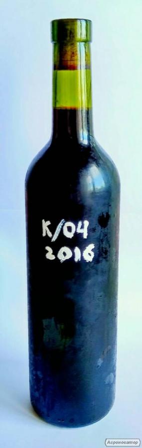 Натуральное вино Купаж Каберне 80% Одесский Черный 20%, красное сухое