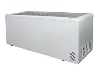 Морозильный ларь с прямым стеклом ARO – 700/1 (7-корзин + колеса)