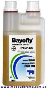 Байофлай Пур-он - защита КРС от нападений мух, слепней и других кровососущих насекомых (500 мл)
