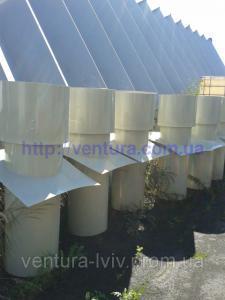 Вытяжная вентиляционная шахта для животноводческих комплексов