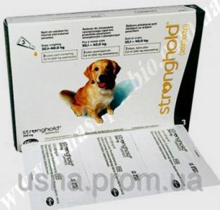Стронгхолд для собак массой от 20,1 до 40 кг, 1 пип.х 2 мл (240 мг)