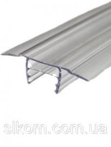 Профиль разъемный БАЗА, прозрачный, 6-10 мм