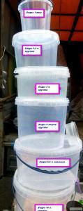 Ведра, контейнера, емкости пищевые с герметической крышкой