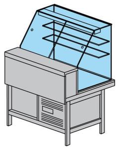 Вітрина холодильна Tecfrigo Party 1600VDSP (БН)