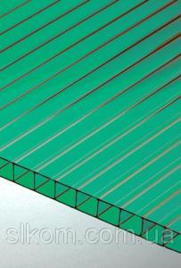 ПК сотовый Polygal 10 мм, зеленый, 2100х12000 СТАНДАРТ
