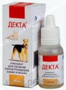 ДЕКТА (лікування вушної корости, ускладненої отит, демодекозу) 10 мл