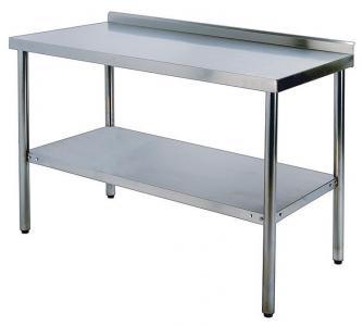Стол кухонный 600х1800мм с бортиком WG304-2472-11/2