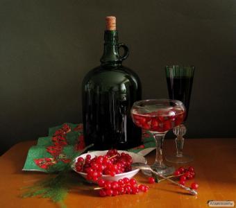 вино малиновое