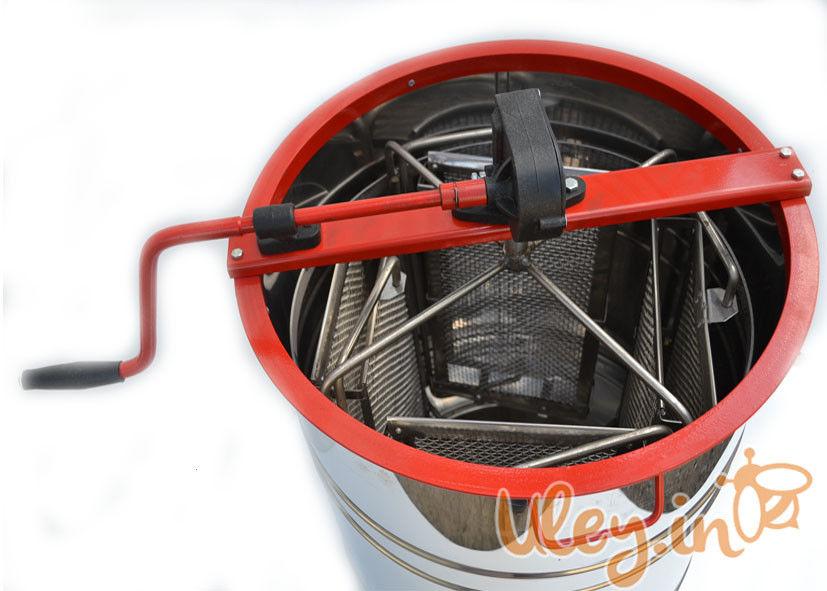 Нержавіюча медогонка з поворотом касет 4-х рамкова під «Рутовскую» рамку