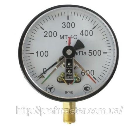 Манометр МТ-4С електроконтактний, що сигналізує вакуумметр, мановакуумметри МТ-4С, ЕКМ-160