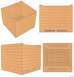 Контейнер дерев'яний (ящик для часнику) часниковий