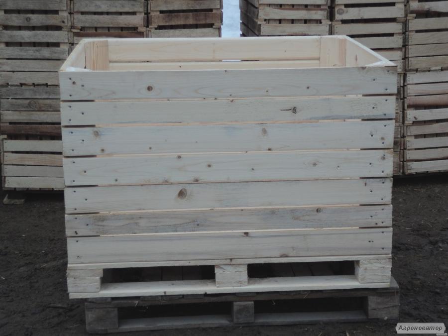 Контейнеры деревянные для яблок