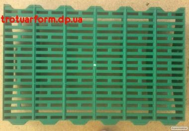 Пластикові щілинні підлоги(решітки) для свиноферм