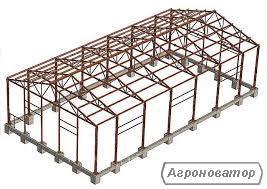 Ангар 8х48 под склад, цех, сто, здание, фермы, производство, зерно.