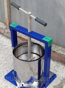 Прес для соку ручної 15 л Вілен (нержавійка)