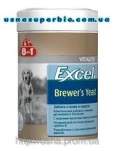 8 в 1 Вітаміни для собак для вовни і шкіри Excel Brewers Yeast Пивні дріжджі (260 шт. / 185 мл)