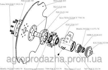 Напівнавісний агрегат ґрунтообробний АГН-4,2