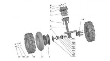 Колеса для зернової сівалки Unia, IDEA в комплекті