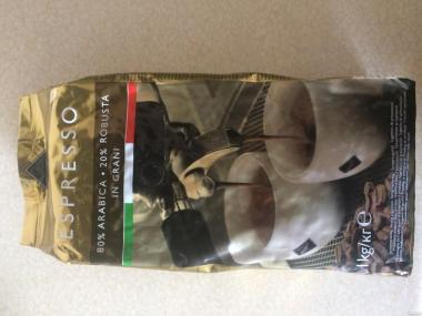 Кофе в зернах итальянская 1 кг/уп.