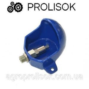 Чугунная поилка для поросят с откидным клапаном