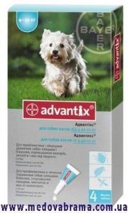 Засіб від кліщів для собак 4-10 кг Адвантікс ®