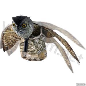 Сова летящая - муляж пластиковый