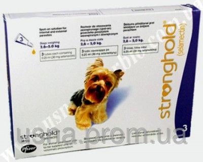 Стронгхолд для собак массой от 2,6 до 5 кг, 1 пип.х 0, 25 мл (30 мг)