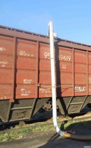 Погрузка зерна в вагоны