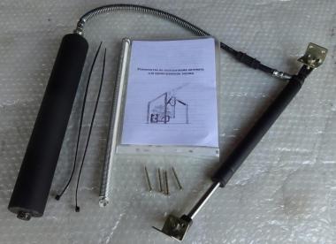 Гідравлічний автомат для провітрювання теплиці