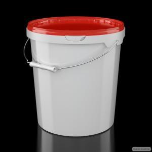 Пластикове відро харчове 21 л. ручка метал.