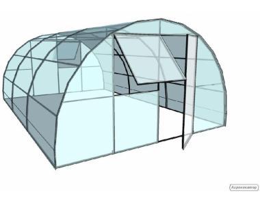Теплица из поликарбоната 4х12м