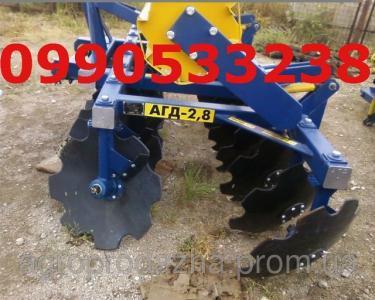Борона АГД-2.8 агрегатується з тракторами мтз-892/920