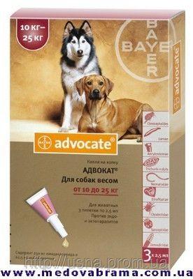 Засіб від бліх для собак вагою 10-25 кг АДВОКАТ ®
