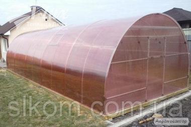 Теплица Зручна 4*10*2.5м с поликарбонатом 8 мм.