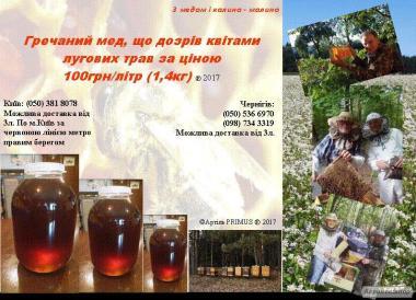 Созревший цветением луговых трав гречишный МЕД