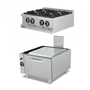 Плита газовая промышленная Empero EMP.7KG020+EMP.7FRG001
