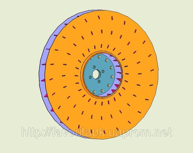 Ротор вентилятора на сівалку УПС