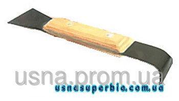 Стамеска пасічна з дерев'яною ручкою (нержавіюча сталь), 200 мм