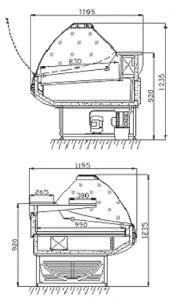 Холодильная витрина Титаниум 1,6 1,8 2,0 2,5 Ариада
