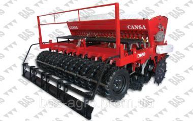 Комбинированная стерневая сеялка прямого высева для зерновых культур No-till Cansa MC-3000-18