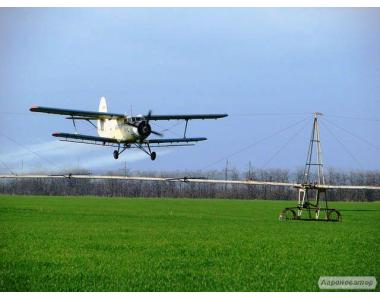 Авіаобробка гвинтокрилами: Внесение инсектицидов фунгицидов вертолетом