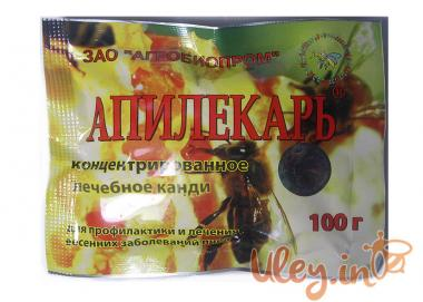 Апилекарь (1 пак.х 100 р. на 1 бджолосім'ю) порошок