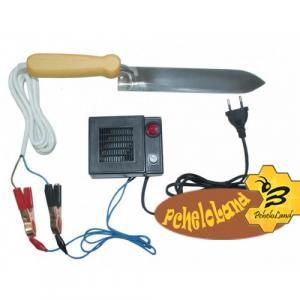 Ніж пасічний з електропідігрівом з Нержавіючої сталі «Гуслия» з блоком живлення і регулятором потужності