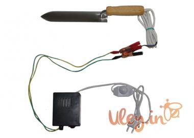 Нож пасечный с электроподогревом из Нержавеющей стали «Гуслия» с блоком питания и регулятором мощнос