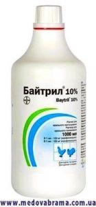 Байтрил 10% раствор для орального применения, Байер, Германия (1 л)