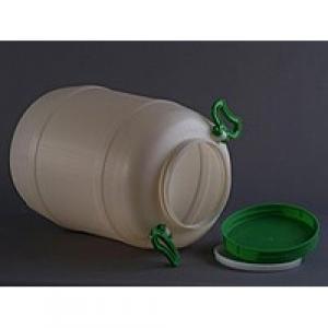 Бидон пищевой пластмассовый, 50 л. Горловина 220 мм.