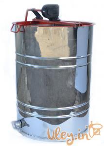 Медогонка Нержавеющая Поворотная, 4 рамоч. Кассеты Нержавеющие. Ротор Нержавеющий под рамку «РУТА 230 мм»