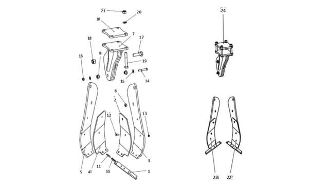 Зуб для культиватора Unia PLOW з захистом