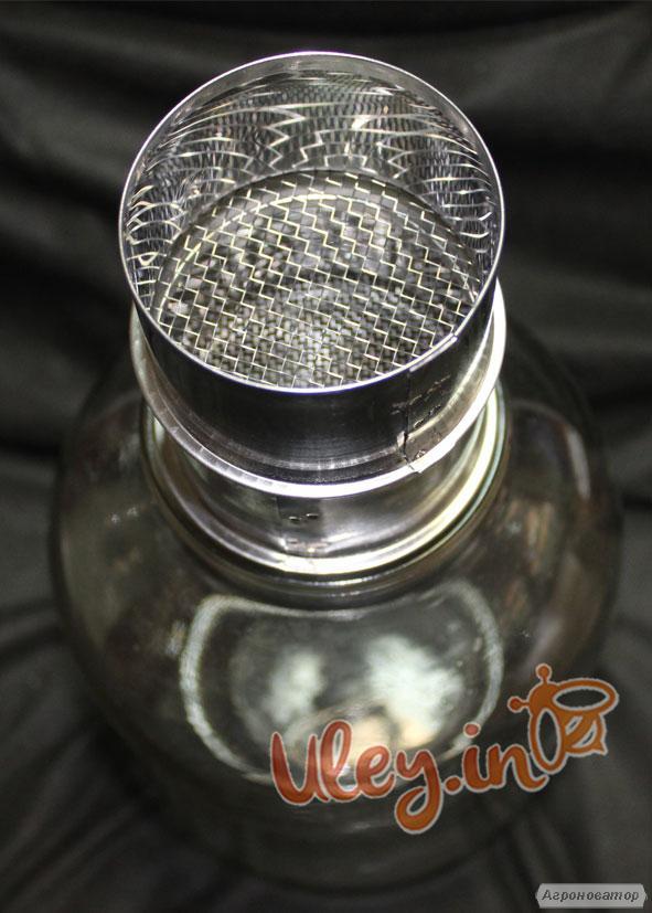 Фільтр на скляну банку, нержавіючий D-70 мм